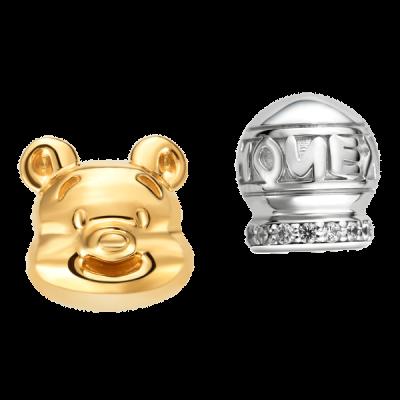 Bông tai bạc đính đá Disney PNJ XM00C000020