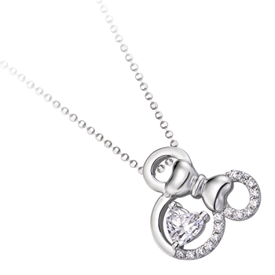 Mặt dây chuyền bạc đính đá ECZ Disney|PNJ Minnie XMXMW000005