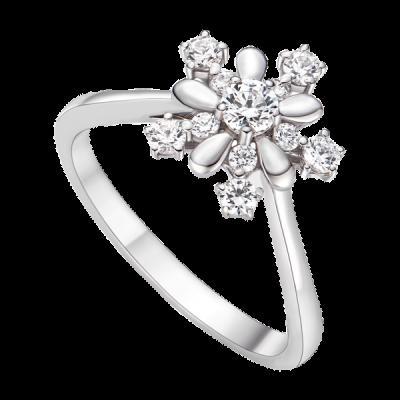 Nhẫn Vàng trắng 10K đính đá ECZ Disney|PNJ Frozen XMXMW001186