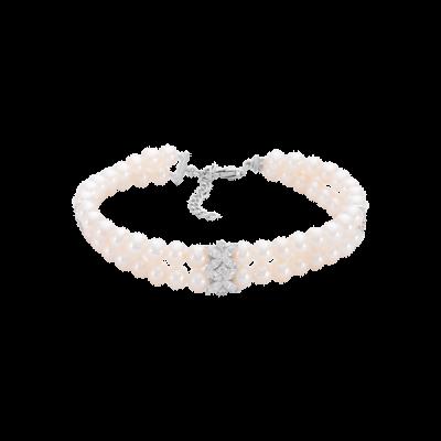 Lắc tay Vàng trắng 14K đính Ngọc trai Freshwater PNJ PFXMW000027