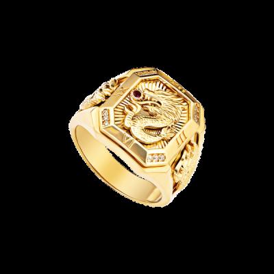 Nhẫn nam vàng 18K đính đá CZ PNJ XMXMY060620