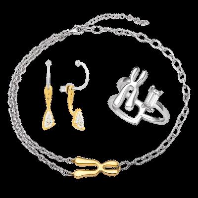 Bộ trang sức bạc đính đá STYLE By PNJ DNA 0000C000005-XM00W000026