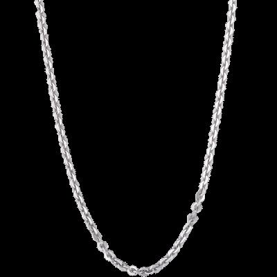 Dây chuyền bạc PNJSilver dây đan kiểu chữ cong 0000K000026