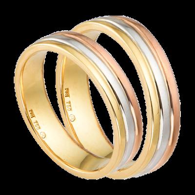 Cặp nhẫn cưới Vàng 18K PNJ 00011-00010