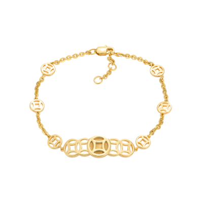Lắc tay Kim tiền Vàng 18K PNJ 0000Y000089