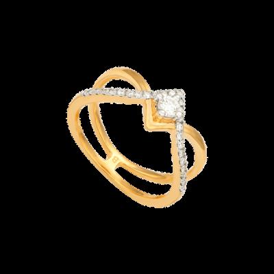 Nhẫn Kim cương Vàng 14K PNJ DDDDC000187