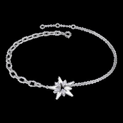 Lắc tay bạc đính đá PNJSilver Aura XMXMW000013