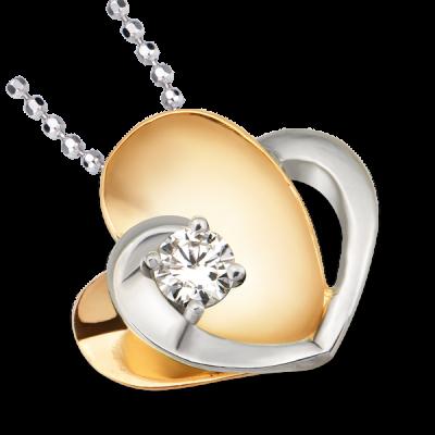 Mặt dây chuyền Kim cương Vàng 14K PNJ First Diamond DD00C000036