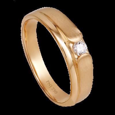 Nhẫn cưới nam Kim cương Vàng 18K PNJ Vàng Son DD00Y000918