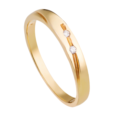 Nhẫn cưới Kim cương Vàng 18K PNJ DD00Y000619