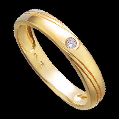 Nhẫn cưới Kim cương Vàng 18K PNJ DD00Y000625