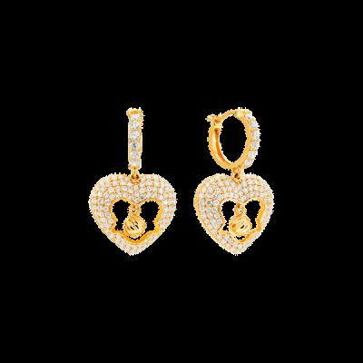 Bông tai Vàng 18K đính đá CZ PNJ XMXMY061063