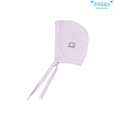 Mũ sơ sinh buộc dây Dokma size S - Kẻ hồng