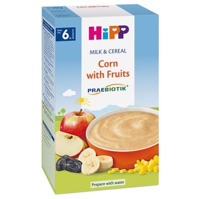 Bột dinh dưỡng Hipp sữa, bắp, hoa quả (250g, từ 6 tháng)