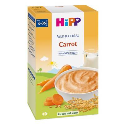 Bột sữa và rau củ dinh dưỡng HiPP – cà rốt 250g, từ 6 tháng