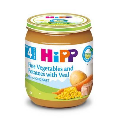 Dinh dưỡng đóng lọ HiPP thịt bê, khoai tây, rau tổng hợp (125g)