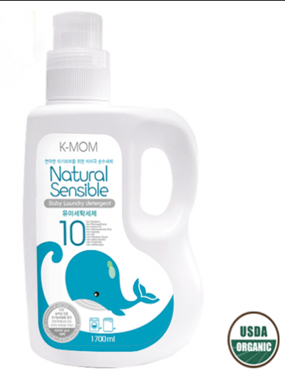 Nước giặt đồ sơ sinh hữu cơ KMOM Hàn Quốc 1700ml