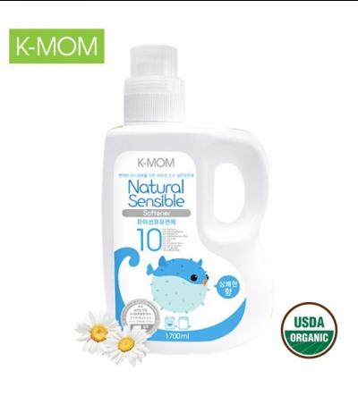 Nước xả vải hữu cơ K-mom Hàn Quốc dạng can 1700ml - xanh