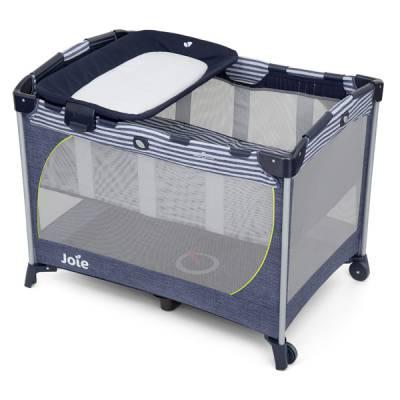 Giường cũi trẻ em Joie Commuter ChangeDenim - Sơ sinh đến 15kg