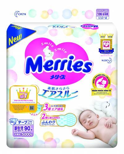 Bỉm dán Merries size Newborn 90 miếng ( dưới 5kg)