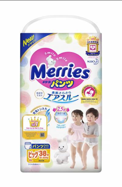 Bỉm quần Merries size XL 38 miếng (12-22kg)