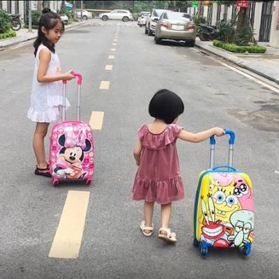 Vali kéo du lịch trẻ em 19 inch chú heo xinh xắn