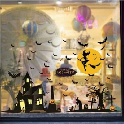 Decal Dán Tường Halloween Thành Phố Bóng Đêm
