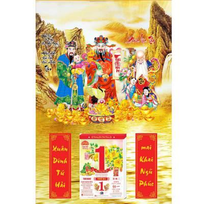 Lịch Gỗ Treo Tường Laminate 2022 (40x60 cm) - Phúc Lộc Thọ 02