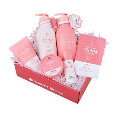 Bộ Sản Phẩm Chăm Sóc Da Trắng Hồng Toàn Diện Scentio Pink Collagen