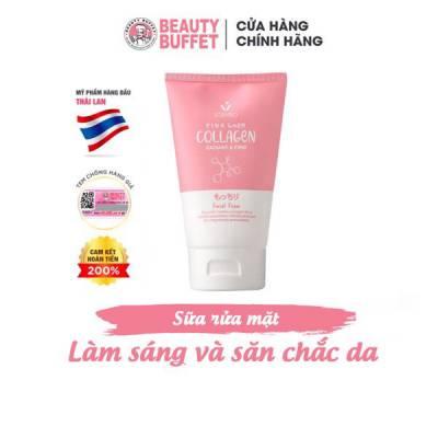 Sữa rửa mặt dưỡng trắng và săn chắc da Scentio Pink Collagen 100ml
