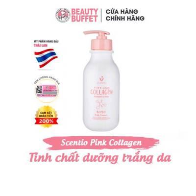 Tinh chất dưỡng trắng và sáng mịn da Scentio Pink Collagen Body Essence 350ml