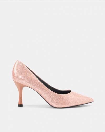 Giày cao gót si kim tuyến