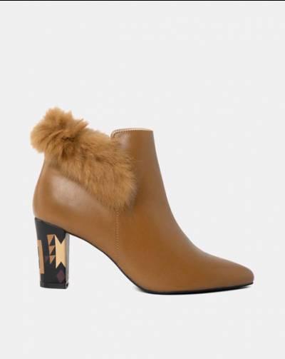 Giày boot viền lông