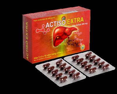 Viên Uống Actisô Extra mát gan thanh nhiệt - Hộp 30 viên