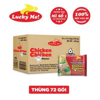 Thùng 72 gói mì hương gà Lucky Me 55g