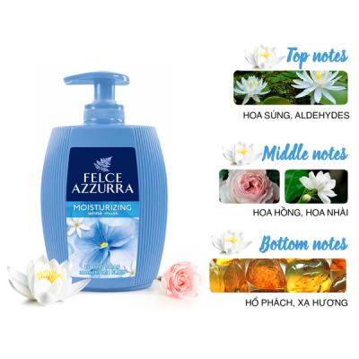 Sữa rửa tay hương nước hoa Ý Felce Azzurra 300ml dưỡng ẩm thơm xạ hương trắng