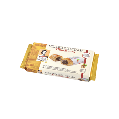 Bánh puff pastry cuộn kem hạt dẻ Millefoglie Ditalia MiniSnack 125g