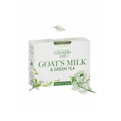 Xà bông cục Country Life Goat's Milk Úc 100g chiết xuất sữa dê và trà xanh