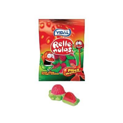 Kẹo dẻo hương dâu nhân thạch Vidal gói 100g