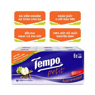 Khăn giấy bỏ túi Tempo Petit hương gỗ táo 6 gói