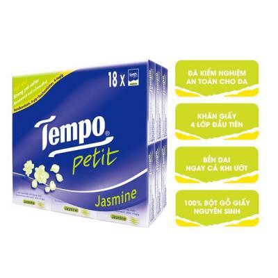 Khăn giấy bỏ túi Tempo Petit hương hoa nhài 18 gói