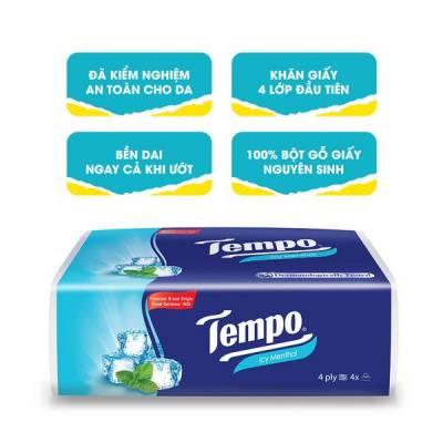 Khăn giấy gói rút Tempo hương bạc hà 4 gói