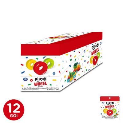 12 Gói kẹo dẻo bánh xe playmore 27g