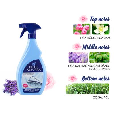 Nước hoa ủi quần áo hương cỏ sả và hoắc hương Felce Azzurra 750ml