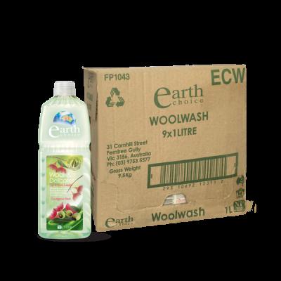 Thùng nước giặt gốc thực vật tinh dầu bạch đàn Earth Choice cho vải cao cấp 1l x 9