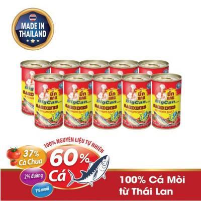 10 Hộp cá Mòi hộp sốt cà chua Bigcan 140g