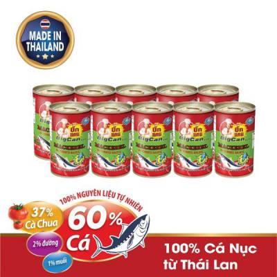 10 Hộp cá Nục hộp sốt cà chua Bigcan 140g