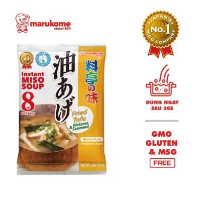 Gói soup miso rong biển đậu hũ chiên ăn liền Marukome 152g