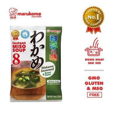 Gói soup miso rong biển Wakame ăn liền Marukome 152g
