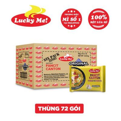 Thùng 12 lốc 6 gói mì xào Pancit Canton hương vị truyền thống Lucky Me 60g